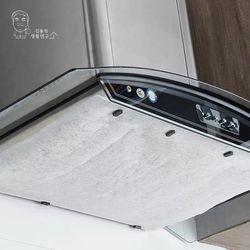 (2개입) 주방 가스렌지 후드커버 난연 46cm x 10M 롤타입