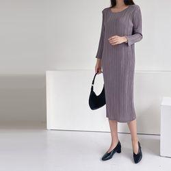 Pleats Erratic Dress - 긴팔