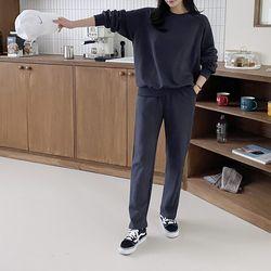 [Set] Formal Sweatshirt   Straight Pants