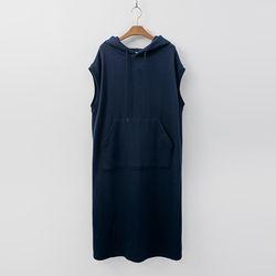 Hooded Pocket Long Dress - 민소매