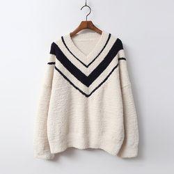 [무료배송] N Very Soft Home V-Neck Knit - 극세사