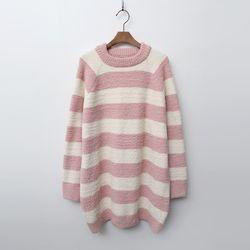 [무료배송] N Very Soft Home Stripe Long Knit - 극세사