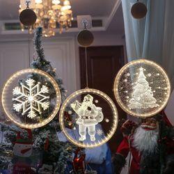 원형 크리스마스 LED 전구 모빌