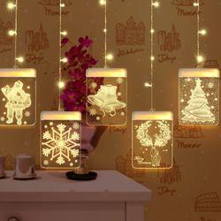 크리스마스 5구 전구 LED 모빌