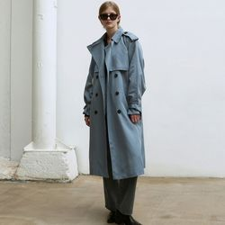 OVERSIZED DOUBLE TRENCH COAT_BLUE GRAY(ITEMU0T3QPY)