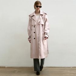 OVERSIZED DOUBLE TRENCH COAT_LIGHT PINK(ITEMOS7D2UA)