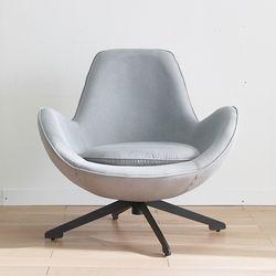 보루네오 하우스 엘리브 발렌 1인 패브릭 회전 의자 ch052