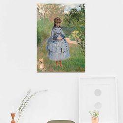 주문제작 액자 Monet Girl with Dog 594x841x30mm