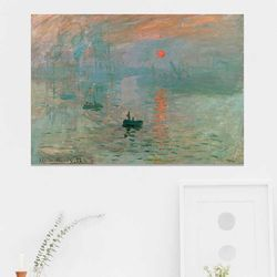 주문제작 액자 Monet Impression Sunrise 841x594x30