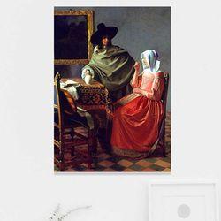 주문제작 액자 Vermeer The Glass of Wine 1661