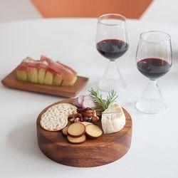 니코트 우드 홈바 치즈보드 와인잔 세트 4P