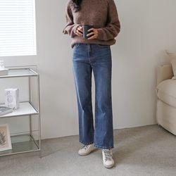여자 소장필수 다리 이뻐보이는 일자핏 데님 와이드