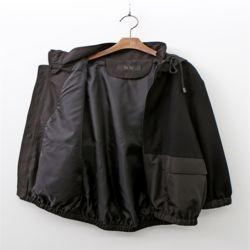 여자 블랙 앤 그레이 투톤배색 밴딩 포켓 데일리 항공