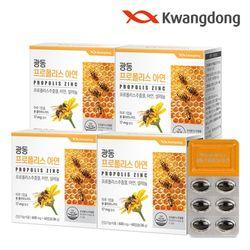광동 프로폴리스 아연 60캡슐 4박스(8개월분) 플라보노이드