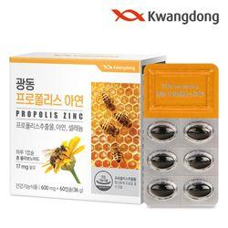 광동 프로폴리스 아연 60캡슐 1박스(2개월분) 플라보노이드
