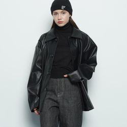 MW149 base leather jacket black