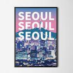 시티팝 서울 M 유니크 디자인 포스터 한국 A3(중형)