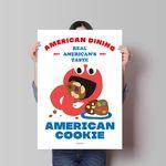 아메리칸 쿠키 M 유니크 디자인 포스터 카페 디저트 A3(중형)