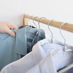 의류매장 옷장정리 논슬립 실리콘코팅 메탈옷걸이 20P