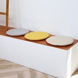 논슬립 패브릭 원형 의자 방석 40cm