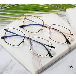 사각 안경 얇은 티타늄 안경테 남자 여자 블루라이트