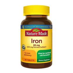 Nature Made 네이처메이드 Iron 아연 65mg 365 타블렛