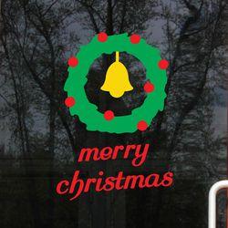 심플 크리스마스리스 겨울 크리스마스  장식 스티커