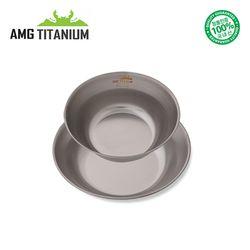에이엠지티타늄 신형 볼(ML) SET 캠핑 백패킹 AMG TITANIUM