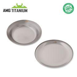 에이엠지티타늄 신형 접시 플레이트 SET 캠핑 백패킹