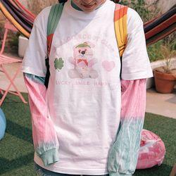 수바코 프린팅 여름 반팔 티셔츠 - 핑크스카웃 T SHIRT