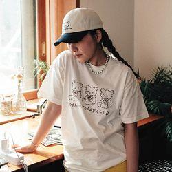 수바코 프린팅 여름 반팔 티셔츠 - 테디스카웃 T SHIRT