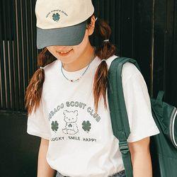 수바코 프린팅 여름 반팔 티셔츠 - 그린스카웃 T SHIRT
