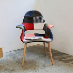 리암에그 퀄팅암 패브릭 인테리어 카페 의자