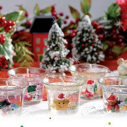 크리스마스캔들만들기(4개)젤리양초만들기캔들패키지