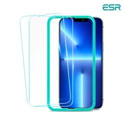 ESR 아이폰1313 Pro 가이드 풀커버 강화유리 2팩