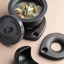 벨류세라믹 첼리나 흑단 원목 냄비받침 14cm
