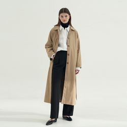 Raglan sleeve Single Trench coat - Beige