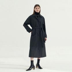 Raglan sleeve Single Trench coat - Navy