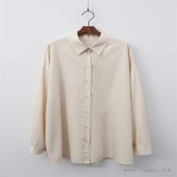 면접룩 기본 심플 셔츠 시원한 색감 솔리드 블라우스