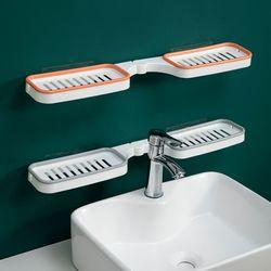 윙즈 접이식 세면대 물빠짐 욕실 선반