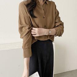 가을 면100% 오피스룩 커리우먼 깔끔한 기본 셔츠