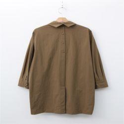가을 꾸안꾸 카라 뒷트임 귀여운 포켓 루즈핏 셔츠