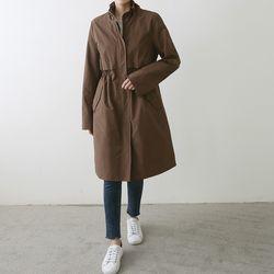 가을 패션 롱 데일리 30대 노카라 사파리 야상자켓
