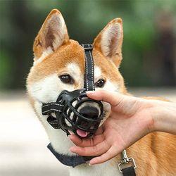 개 강아지 블랙 입마개 소형견 중형견 대형견 - 사이즈2