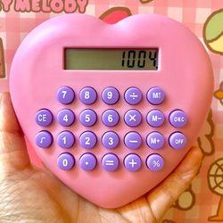 러블리 핑크 하트 계산기 디자인 미니계산기