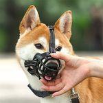 개 강아지 블랙 입마개 소형견 중형견 대형견 - 사이즈 5