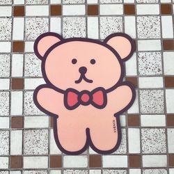 수바코 귀여운 곰돌이 마우스패드 노트북 마우스매트