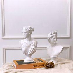 감성 엔틱 조각상 인테리어 아폴로 아르테미스 석고상