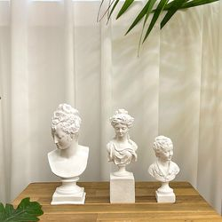감성 조각상 오브제 빈티지 엔틱 크랙 소녀 석고상