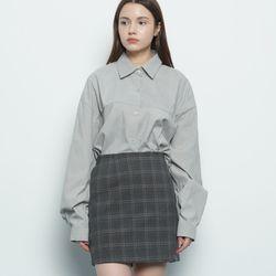W212 basic over shirt grey